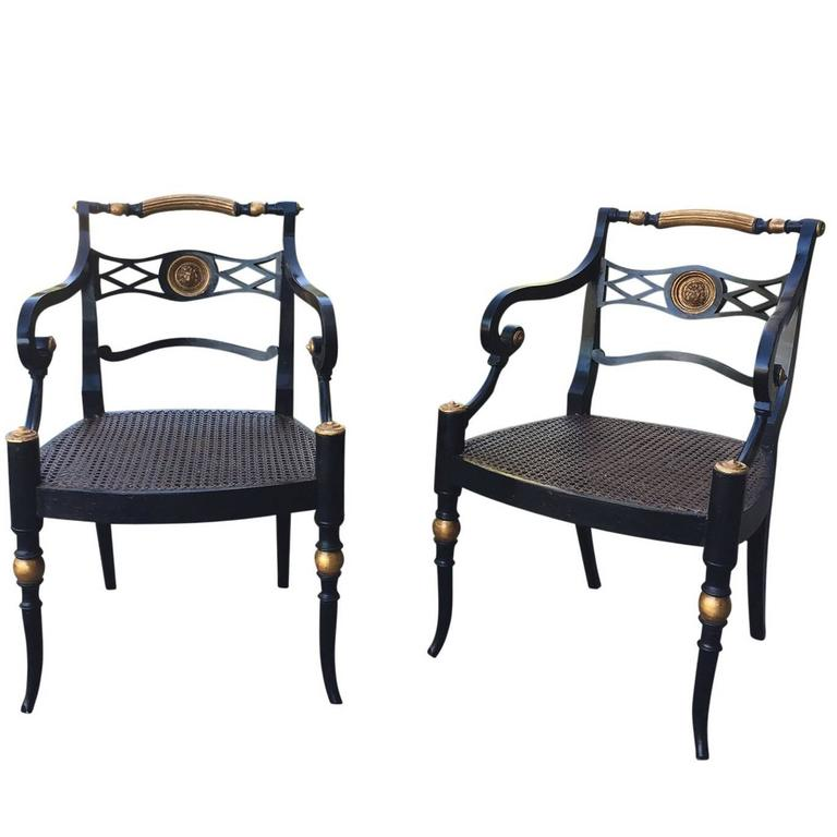 Pair of 19th Century Regency Armchairs For Sale