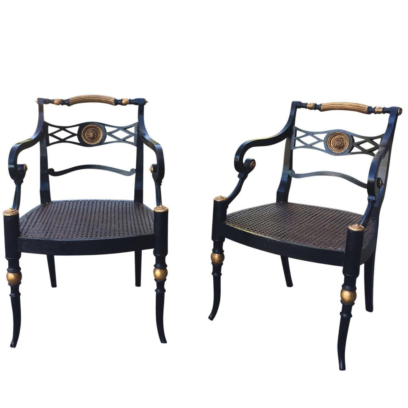 Pair of 19th Century Regency Armchairs