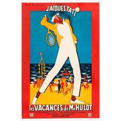 """""""Les Vacances De M. Hulot"""" Film Poster, 1953"""