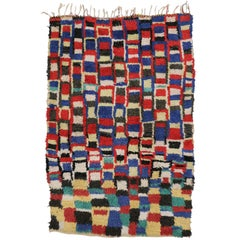 Vintage Berber Moroccan Rug with Post-Modern Style after Douglas Coupland