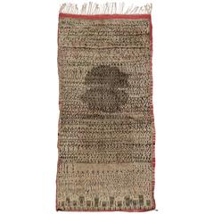 Vintage Berber Moroccan Rug with Warm, Neutral Colors