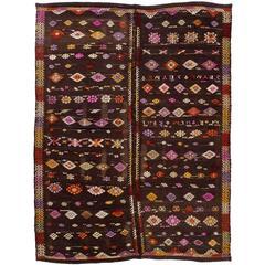Exceptional Anatolian Dowry Kilim, Flat-Weave Rug