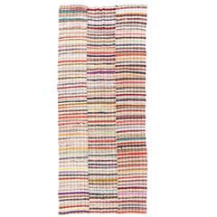Colorful Cotton Kilim, Flat-Weave Rug