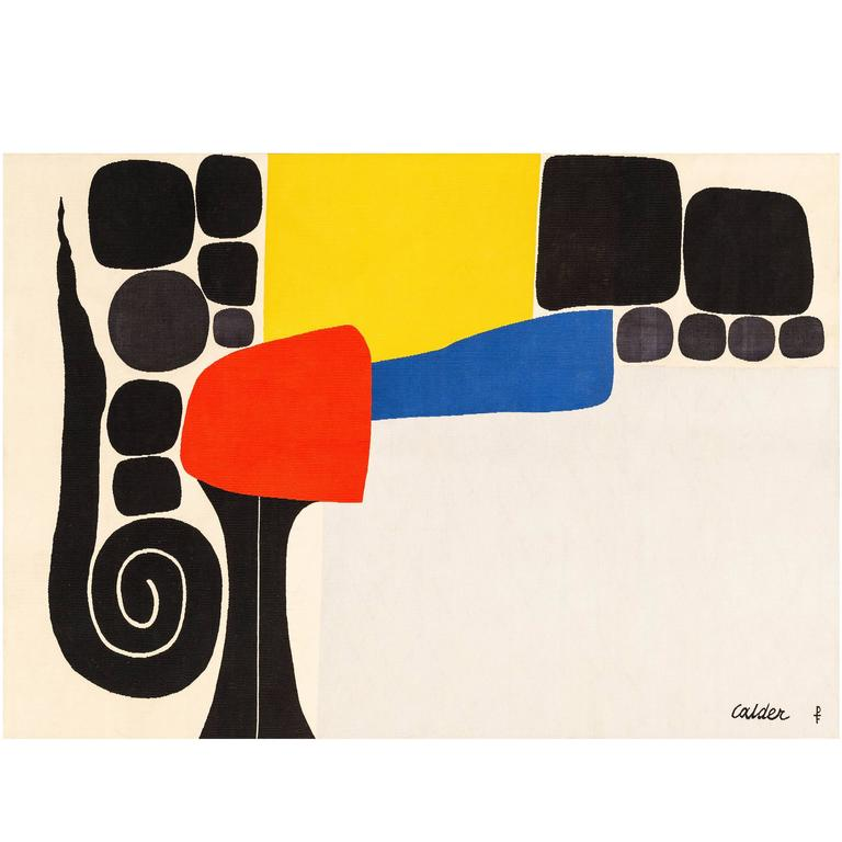 "Tapestry by Alexander Calder ""Ice Rink"" 1"