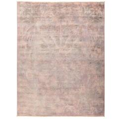 Overdyed Area Rug in Pink