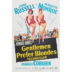 """Gentlemen Prefer Blondes"" Film Poster, 1953"