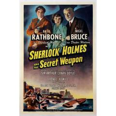"""Sherlock Holmes And The Secret Weapon"" Film Poster, 1942"
