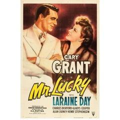 """Mr. Lucky"" Film Poster, 1943"