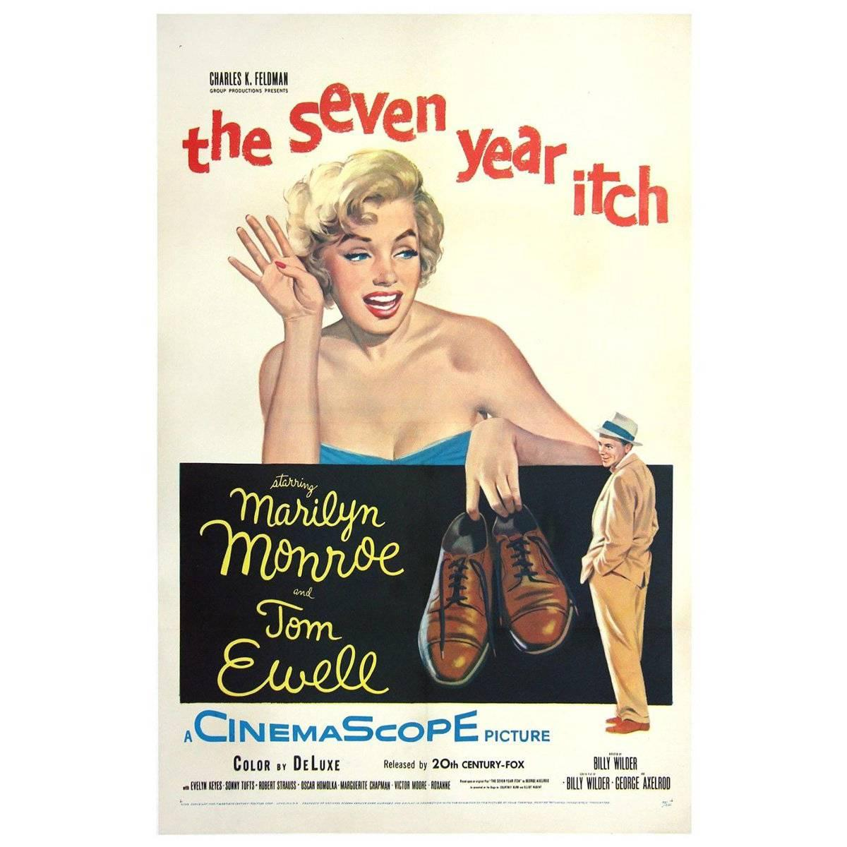 """""""The Seven Year Itch"""" Film Poster, 1955"""