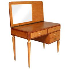 Desk and Dressing Table, with Mirror Style of Ulrich, circa 1936, Vanity Table