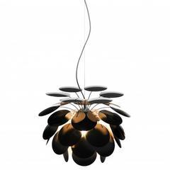Discocó Pendant Light Chandelier in Metallic Gold and Black