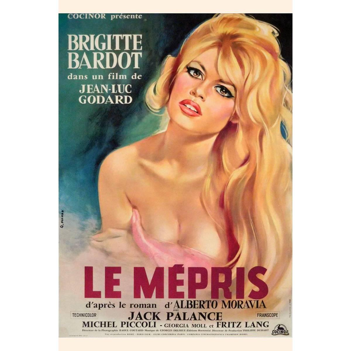 """""""Le Mépris"""" Film Poster, 1963"""