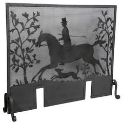 American Arts and Crafts Wrought Iron Fire Screen