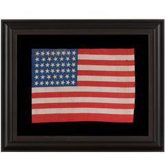46 Star American Flag with a Brilliant Royal Blue Canton, 1907-1912
