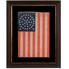 38 Star Flag with Stars in a Beautiful Medallion Configuration with Two Outliers