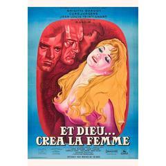 """""""Et Dieu Créa La Femme"""" Film Poster, 1956"""