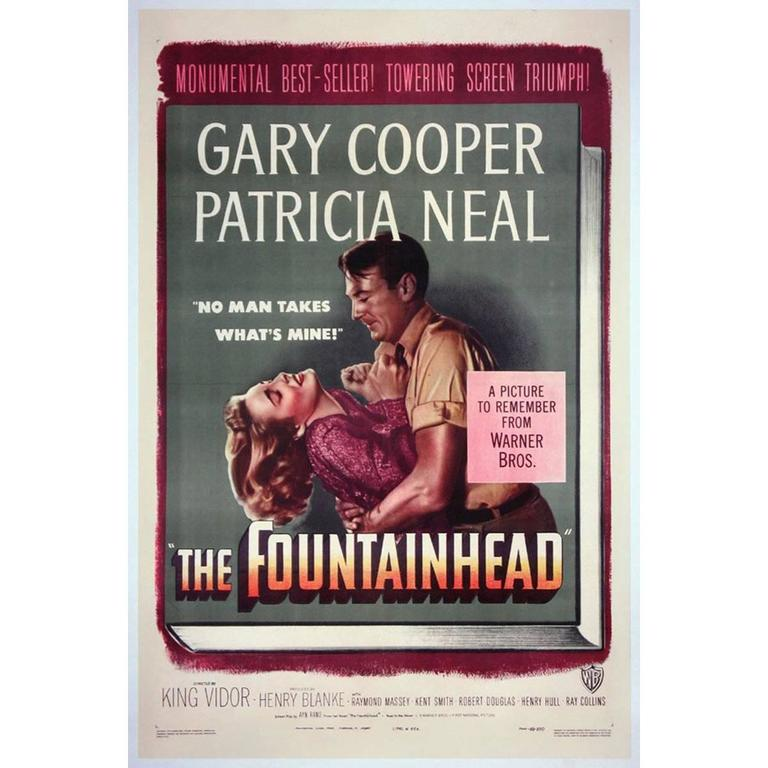 """""""The Fountainhead"""" Film Poster, 1949"""