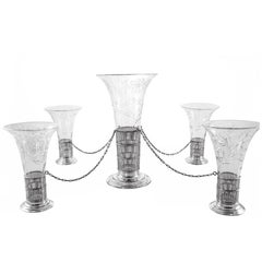 Vase with Four Smaller Vases