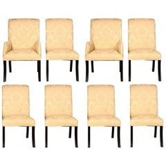 Set of Eight Quality Hollywood Regency Dining Chairs