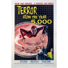 """""""Terror from the Year 5000"""" Film Poster, 1958"""