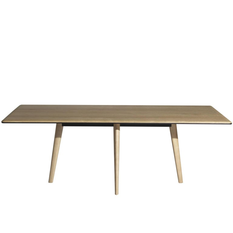 """François"" Natural or Ebonized Oak Top Table by Lievore Altherr for Driade"