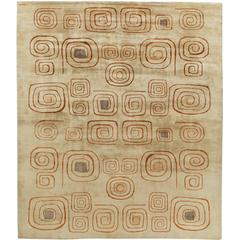 Deco Vintage Rug (Churos) Signed by Olga Fisch
