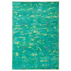 Solo Rugs, over Dyed, Area Rug, Green