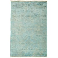 Overdyed Area Rug in Blue