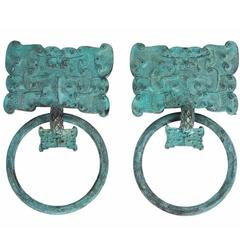 Pair of Chinese Copper / Bronze Mounts