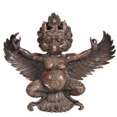 Asian Garuda Bronze Deity Figure