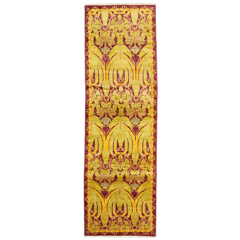 Solo rugs arts and crafts runner in yellow for sale at for Arts and crafts for sale