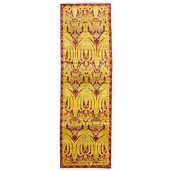 Solo Rugs, Arts & Crafts Runner in Yellow