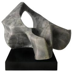 Abstract Grey Marble Sculpture by Verina Baxter