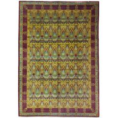 Arts & Crafts Area Rug in Yellow