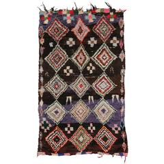 Boho Chic Vintage Berber Moroccan Rug with Tribal Style