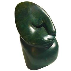 Small Abstract Green Marble Bust