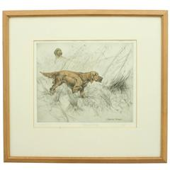 "Hunting Etching ""Setters in Snipe Ground"""