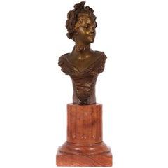 Petite French Art Nouveau Period Bronze by Van Der Straeten