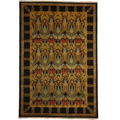 Solo Rugs, Arts & Crafts Area Rug in Yellow