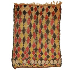 Vintage Berber Moroccan Rug With Modern Cabin Style