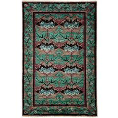 Green Arts & Crafts Area Rug