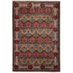 Purple Arts & Crafts Area Rug