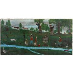 Landscape with Hunters, Fishermen, Animals and Memorial