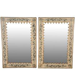 Pair of Spanish Mirrors in Painted Metal