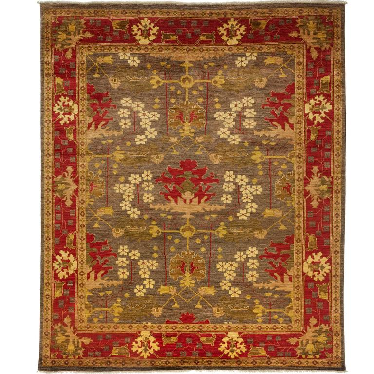 Arts And Crafts Rugs Pottery Barn: Brown Arts And Crafts Area Rug For Sale At 1stdibs