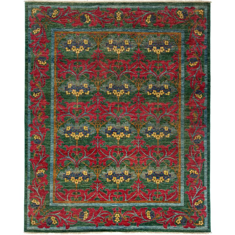 Arts And Crafts Rugs Pottery Barn: Green Arts And Crafts Area Rug Solo Rugs For Sale At 1stdibs