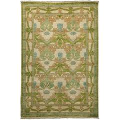 Ivory Arts & Crafts Area Rug