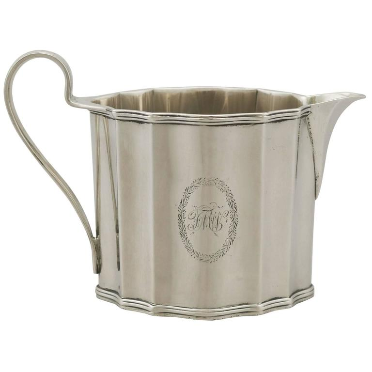 Antique George III Sterling Silver Cream Jug by Henry Chawner, 1791