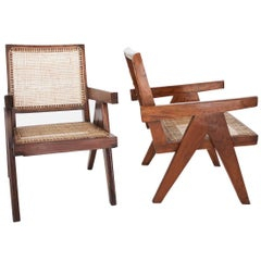 Easy Armchairs by Pierre Jeanneret, Set of Two, circa 1950s