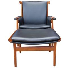 Mid-Century Finn Juhl Bwana Lounge Chair and Ottoman